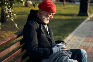 man experiencing homelessness
